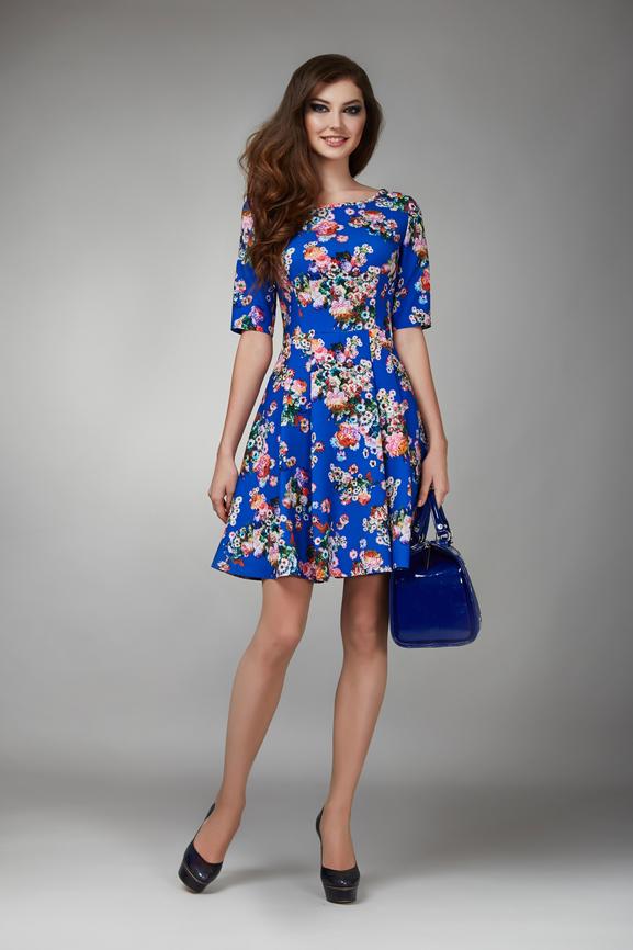 Blue Floral dress   Woo Points Rewards